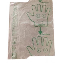 Guanti in sacchetto polietilene 28x22cm - rotolo 500pz