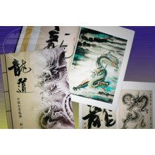 Chinese traditional ink painting of Dragons