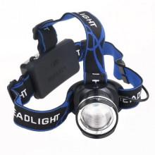 Wiederaufladbares Frontlicht mit LED. Euroäischer Stecker