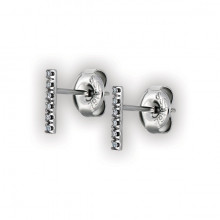 Long Bar Studs w/ Micropave Setting WH